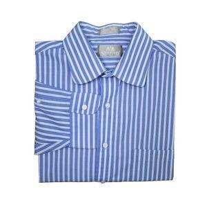 Stafford Executive Blue, Green & White Dress Shirt